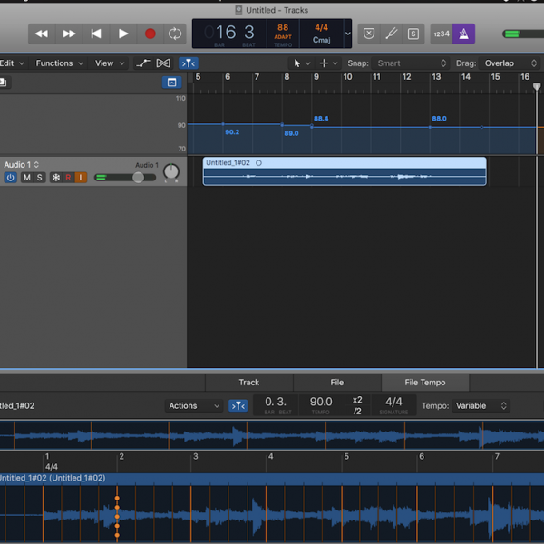 <span>Natural Timing in the DAW </span> Made Easy At Looong Last — Logic Pro 'Smart Tempo'